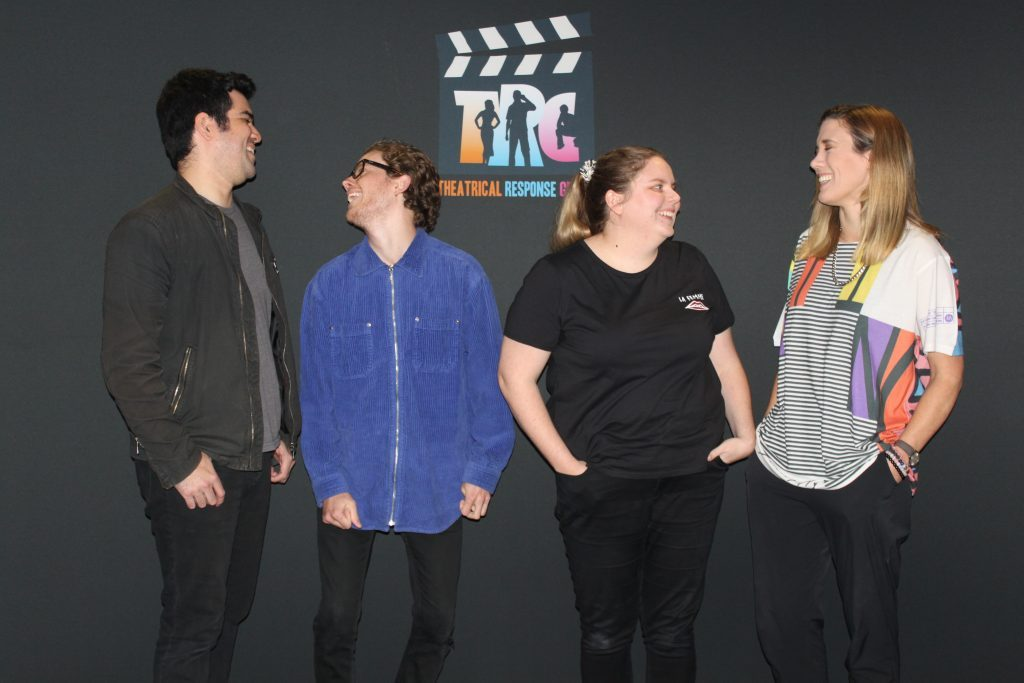 Pictured: The actors from Theatrical Response Group, (L-R) Hock Edwards, Louis Spencer, Kate Willoughby and Nadia Collins
